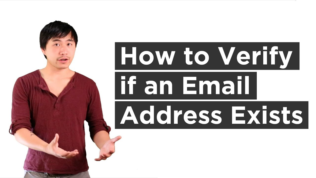 how to verify if an email address exists youtube - Verify Email Address Php