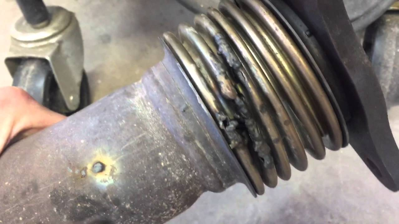 Update, broken flex pipe. - YouTube