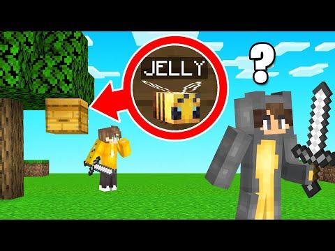 He MORPHED Into A BEE In Hunters VS Speedrunner! (Minecraft)