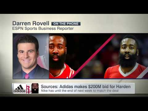 7ae9f69ee83f Adidas trying to pry Harden from Nike - YouTube