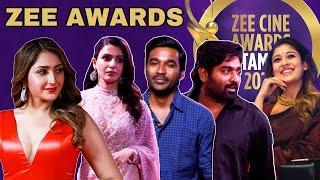 Dhanush, Vijay Sethupathy, Nayanthara, AR Rahman, Samantha @ Zee Cine Awards Tamil 2020