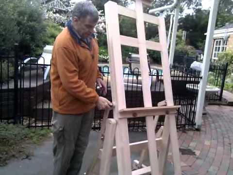 Easel - Horizontal to Vertical H Frame Art Easel Model HHV2000