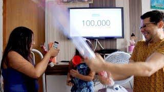 COMEMORANDO 100 MIL INSCRITOS - Sarah de Araujo