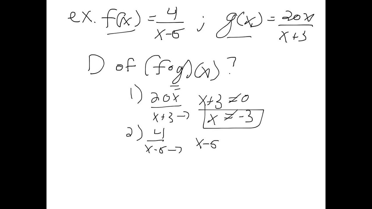 Worksheets Composition Of Functions Worksheet pre calculus ch 5 1 composite functions youtube functions