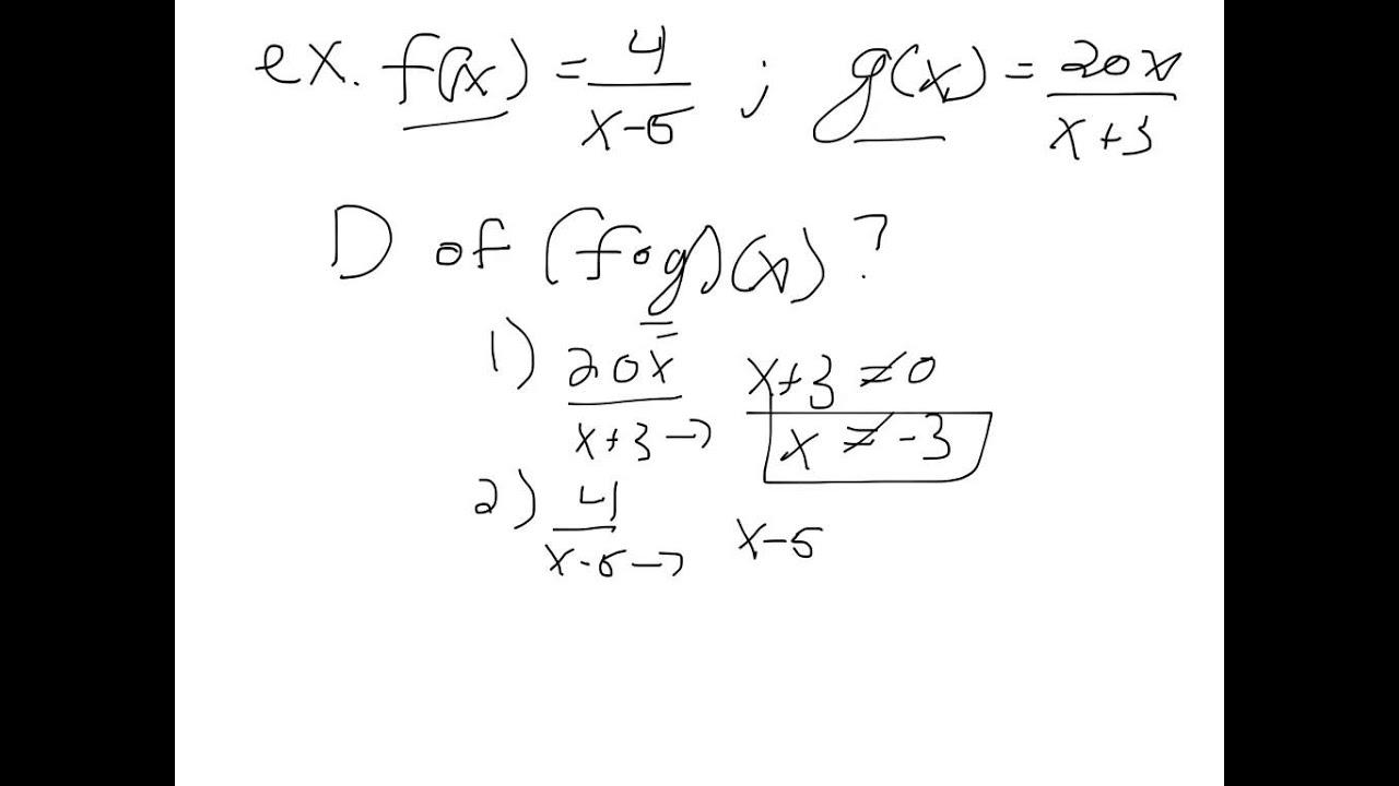Worksheets Composite Functions Worksheet pre calculus ch 5 1 composite functions youtube functions