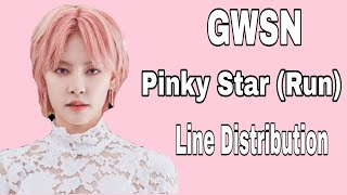 gwsn pinky star run line distribution kpop lover