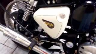 bullet classic 350 with GreaseHouse custom off road silencer with glass wool