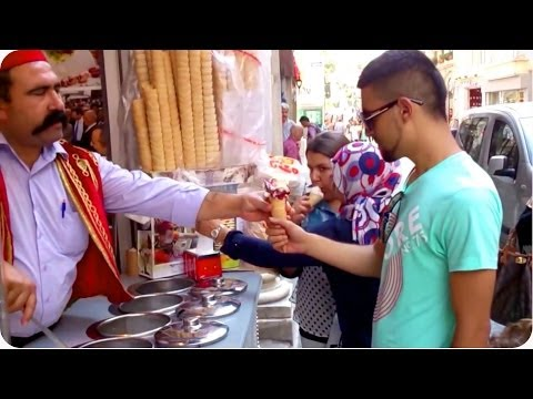 Scream for Ice Cream | Turkish Ice Cream Man Trolls Customers