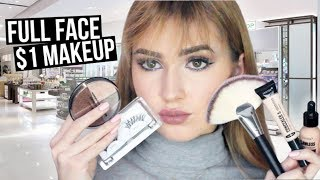 FULL FACE Using $1 MAKEUP | Hit or Miss?! ShopMissA