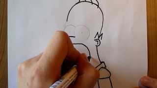 1st drawing: Homer Simpson (Simpsons) [HD]