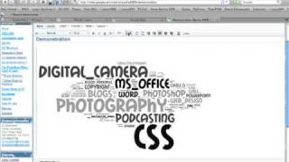 Google Sites - Inserting a Wordle Tag Cloud