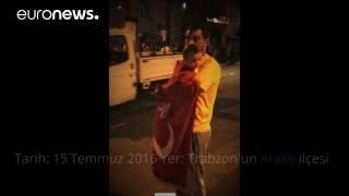 Darbe girişimi gecesi Trabzon Araklı'da yaşananlar