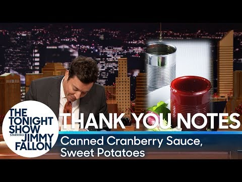 Download Youtube: Thank You Notes: Canned Cranberry Sauce, Sweet Potatoes