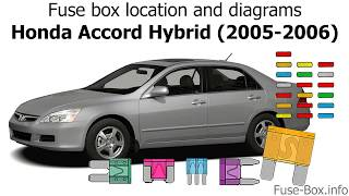 Fuse box location and diagrams: Honda Accord Hybrid (2005-2006) - YouTube | 2005 Honda Fuse Box Location |  | YouTube