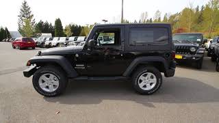 2018 Jeep Wrangler JK Sport S | Black Clearcoat | JL891376 | Redmond | Seattle