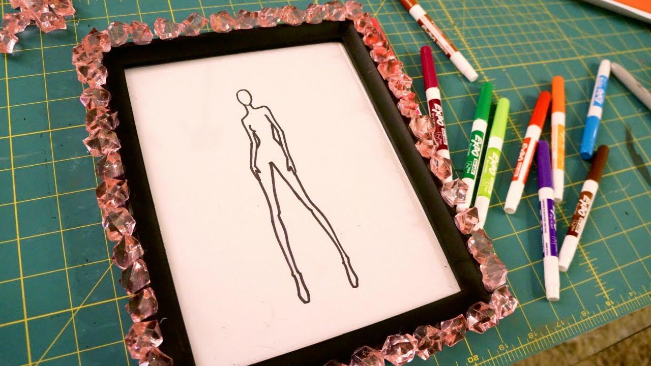 DIY Croquis Whiteboard for Fashion Design - YouTube