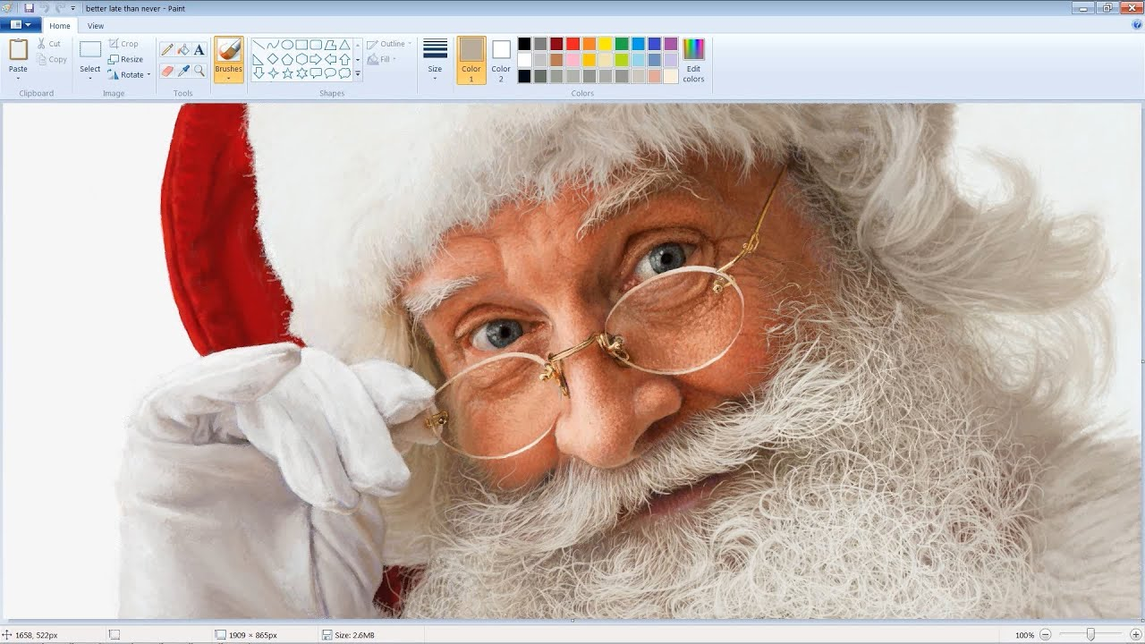 Unbelievably Realistic Microsoft Paint Art Santa Claus