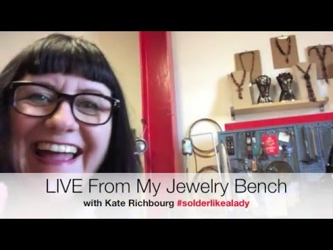 LIVE From My Jewelry Bench Drilling Stones and Fitting Bezels