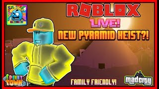 Roblox #98 - France NOUVEAU PYRAMID HEIST UPDATE! MAD CITY - FRANCE EN DIRECT ( (sjk livestreams #322)