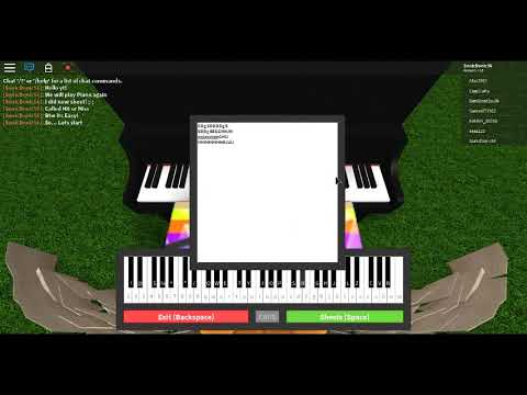 Roblox Piano Songs Notes Roblox Piano Keyboard Hit Or Miss Easy Youtube