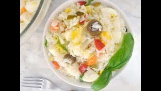 Rice Salad Recipe By Cooking With Manuela