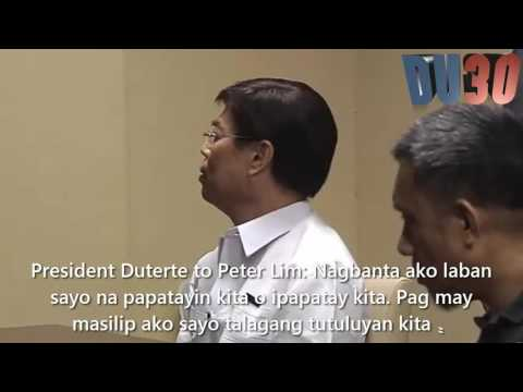 President Duterte kinausap ang  drug lord na si Peter Lim at