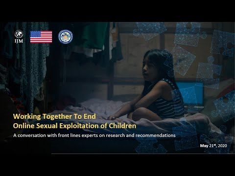 WEBINAR: Working Together to End Online Sexual Exploitation of Children