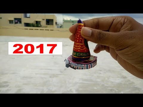 Burning Fire Flower Pot In Different Style - 2017 || Fireworks || Crackers