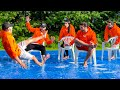GIANT SLIP 'N' SLIDE MUSICAL CHAIRS (Painful)