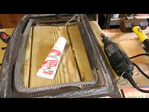 How to Replace a Wood Stove Door Gasket - How To Replace A Wood Stove Door Gasket - YouTube