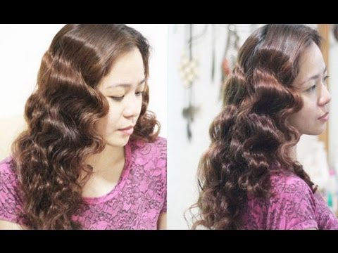 No Heat Foil Waves For Thick Medium Length Hair Heatless