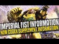 Imperial Fist Codex Supplement Info