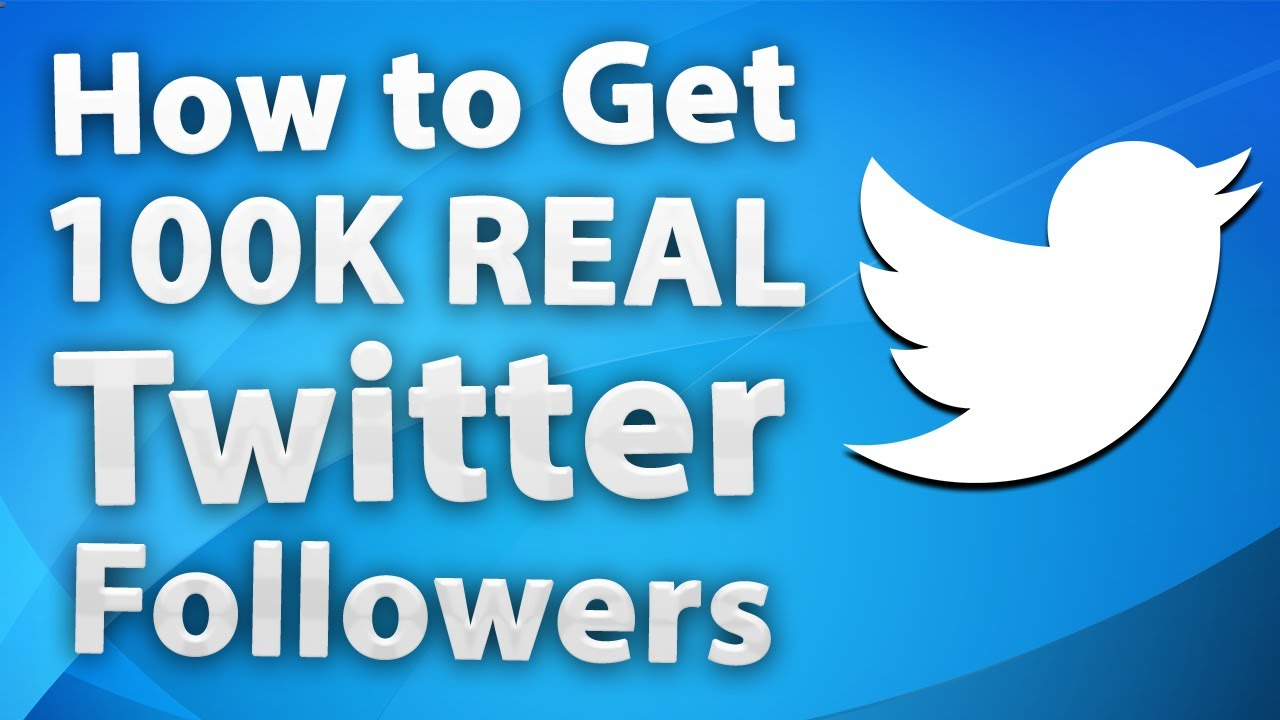 how to get 100K Followers in Twitter For free  YouTube
