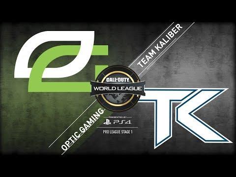 OpTic Gaming vs Team Kaliber | CWL Pro League Stage 1 Playoffs 2018 | Day 2