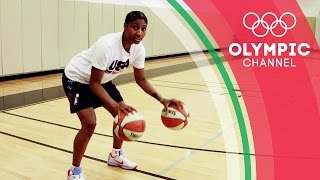 How To Dribble in Basketball ft. Angel McCoughtry | Olympians' Tips