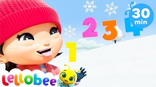 FROZEN! - Christmas Songs for Kids | Nursery Rhymes | ABCs and 123s | Learn with Little Baby Bum