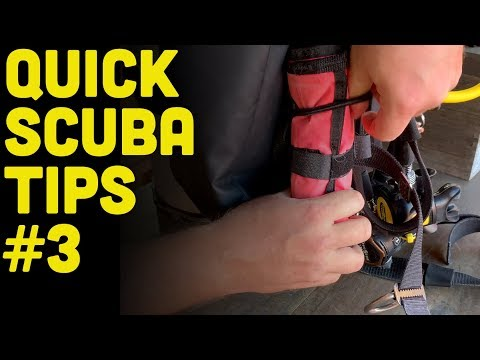 How To Mount Scuba Diving Accessories To A Backplate And Wing Set Up