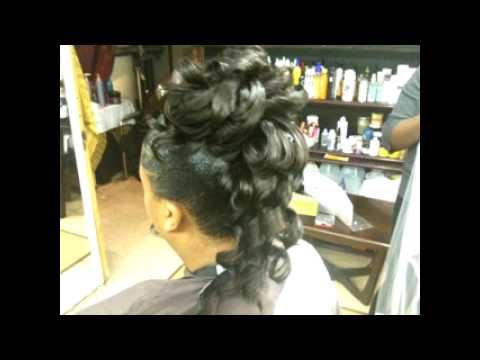 Wedding hairstyle Updo ponytail weave Glueonponytialweave Hotstyle m4v  YouTube