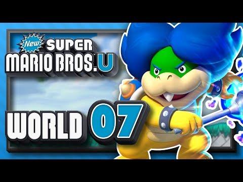 New Super Mario Bros. U Part 7 - World 7: Meringue Clouds! (4 Player)