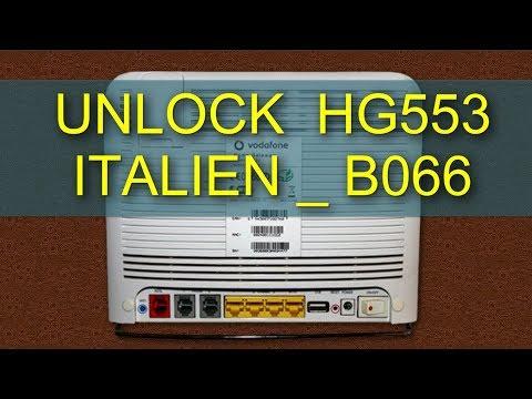 Unlock & Setup Router Vodafone Huawei hg553 italian b066   الإيطالي hg553 حصريا تحديث وإعداد راوتر