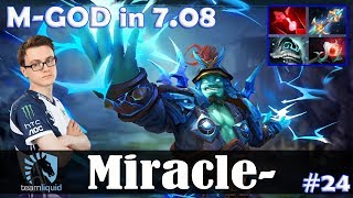 Miracle - Storm Spirit MID | M-GOD in 7.08 | Dota 2 Pro MMR Gameplay #24
