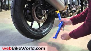 Repeat youtube video Snapjack Portable Motorcycle Lift Jack