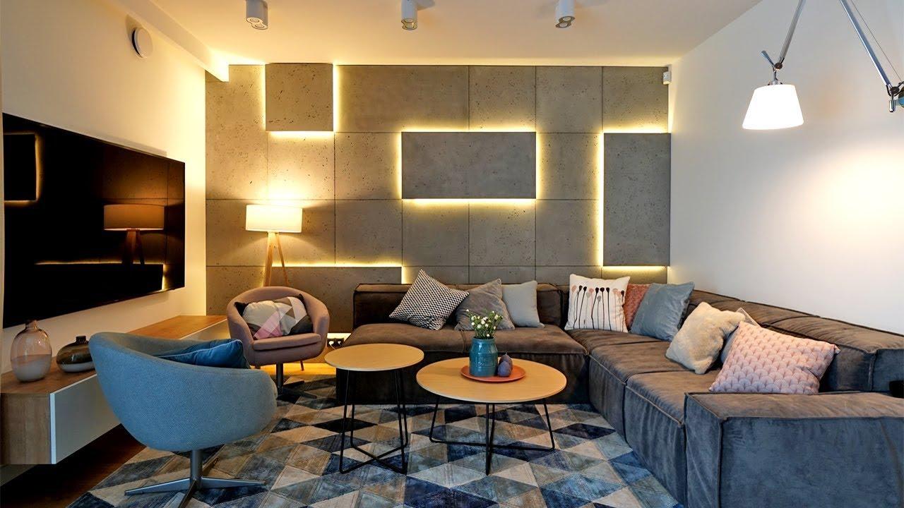 Beton Na ścianie Jak Urządzić Przytulne Mieszkanie W Szeregowcu Projekt Wnętrz Architekt