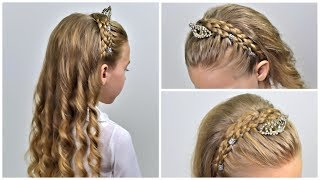 Headband Dutch Braid | Hairstyle with Diadema ✨ NATURAL hairstyles (Party Hairstyle for girls #20)