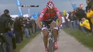 Attaque de Fabian Cancellara [Spartacus] Paris Roubaix 2010 [HD]
