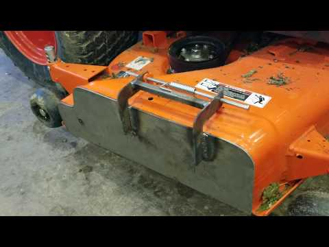 Mower discharge chute mulch block off plate Kubota BX homemade