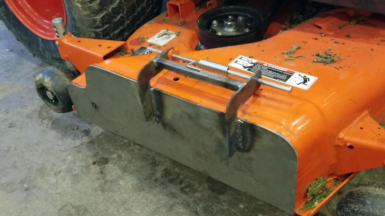 Kubota Zero Turn Mulching Kit For : Mower discharge chute mulch block off plate kubota bx