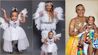 Ama Mcbrown Reveals Baby Maxin's Face in Lovely Birthday Photos...