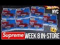 CRAZY SUPREME x HOT WHEELS WEEK 8 IN STORE NEW YORK CITY VLOG! | WHAT WENT DOWN!? | 15 CARS + REAL!