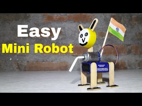 Diy How To Make Mini Robot Dog Self Moving Easy Science Projects For Kids